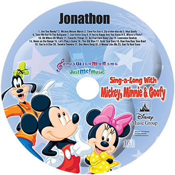 Mickey and Friends music CD