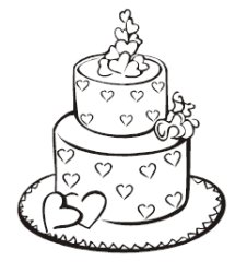 My wedding day coloring book pages for Wedding cake coloring page
