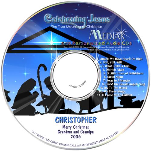 Celebrating Jesus - Personalized Christmas CD