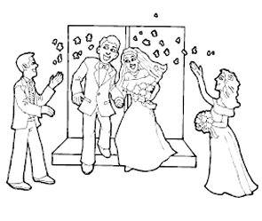 My Wedding Day Coloring Book Pages